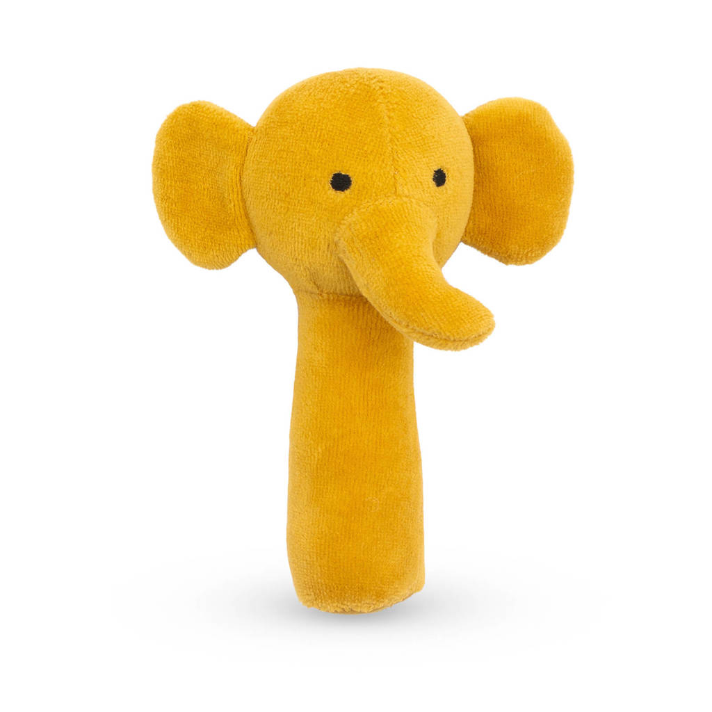Jollein rammelaar Elephant mustard, Geel