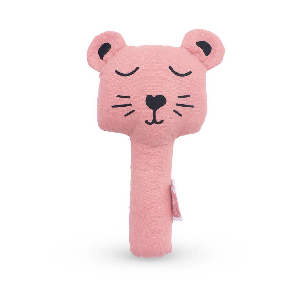 Jollein rammelaar Animal club rouge, Roze