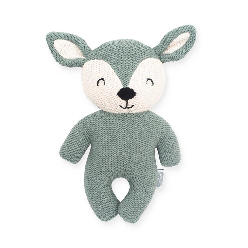 Jollein Deer ash green knuffel 23 cm, Groen