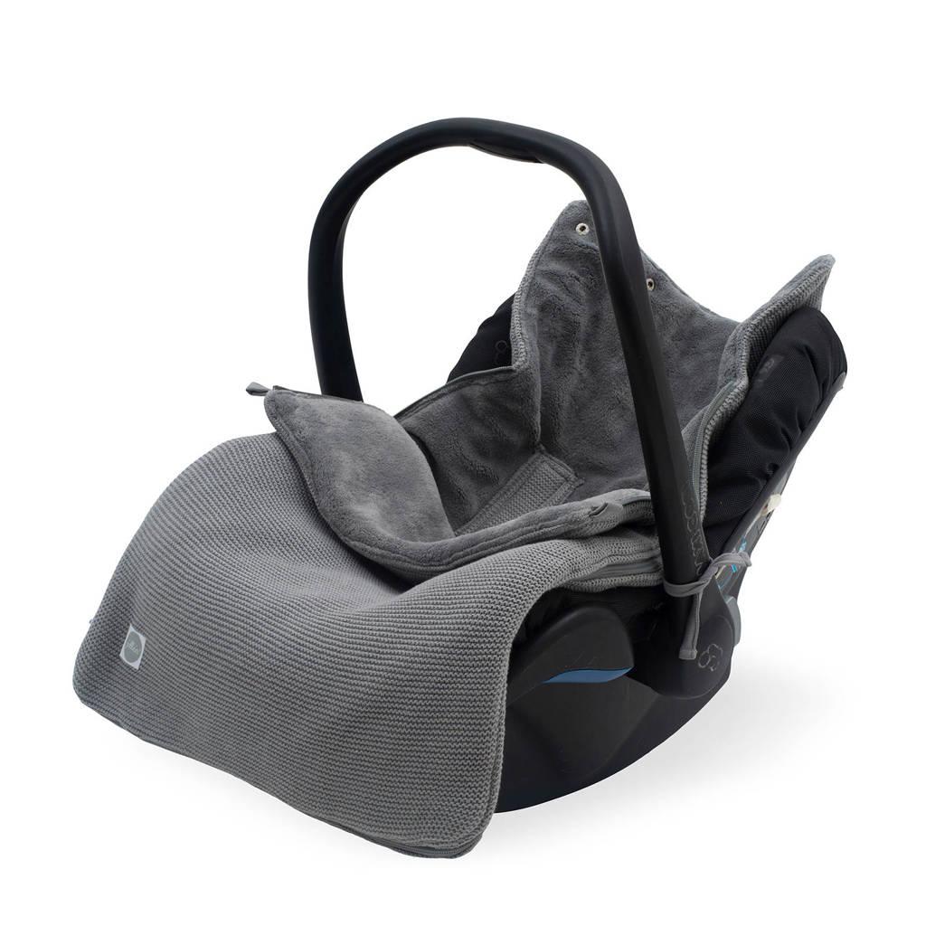 Jollein voetenzak groep 0+ 3/5 punts  Basic knit stone grey, Grijs