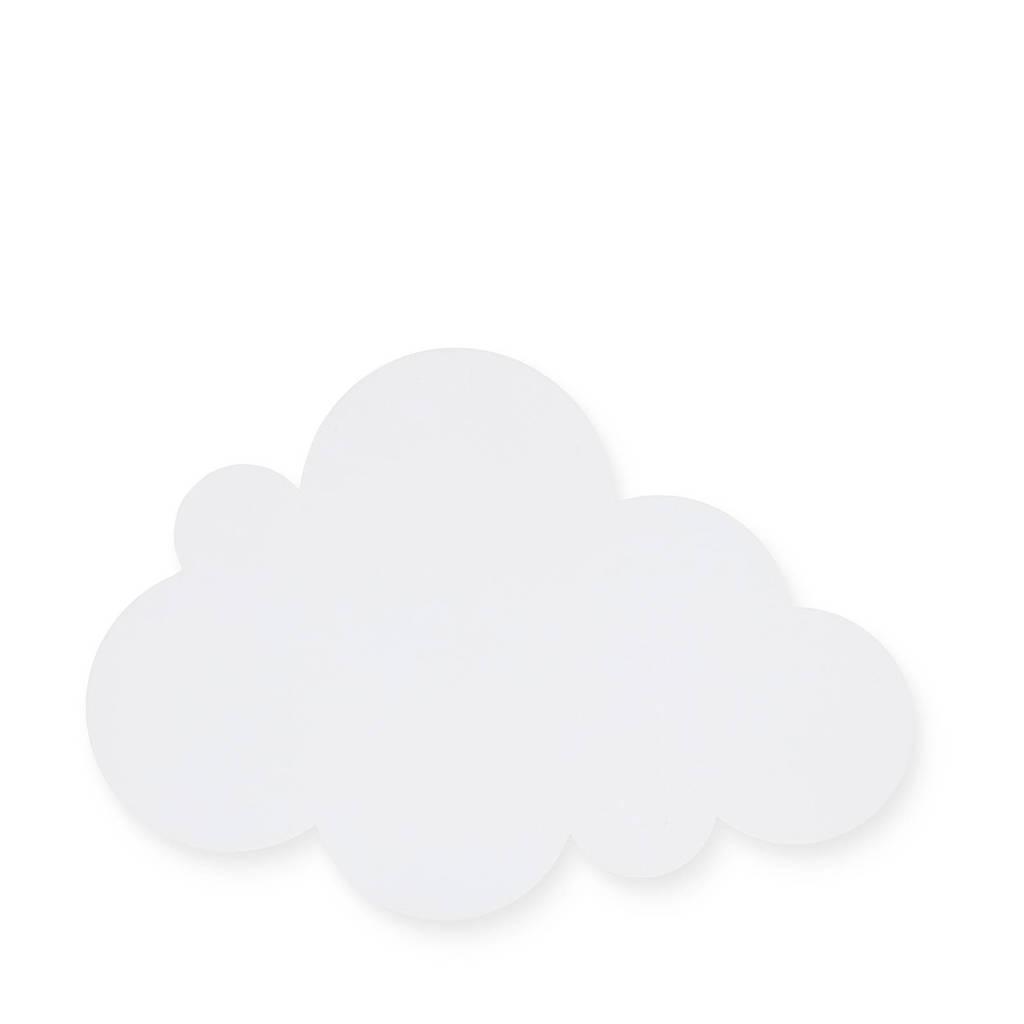 Jollein wandlamp Clouds white, Wit