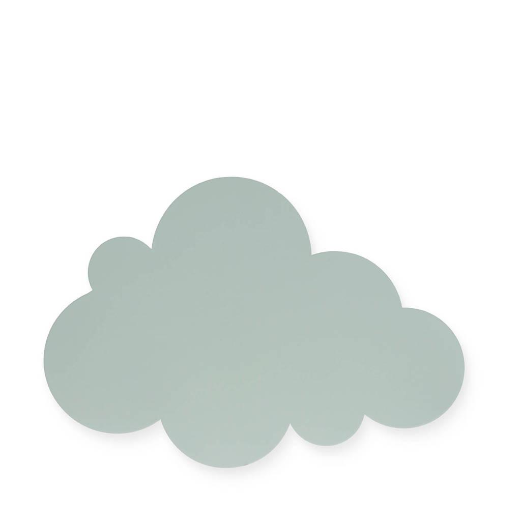 Jollein wandlamp Clouds groen, Groen