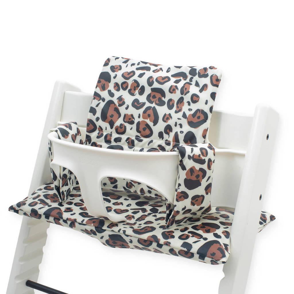 Jollein stoelverkleiner meegroei Leopard natural, Beige