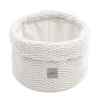 Jollein opbergmand River knit cream white 14xØ18, Wit