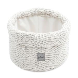 opbergmand River knit cream white 14xØ18