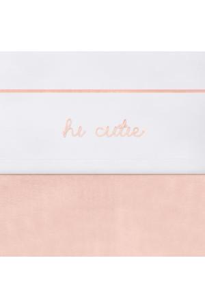 baby wieglaken 75x100cm Hi cutie pale pink