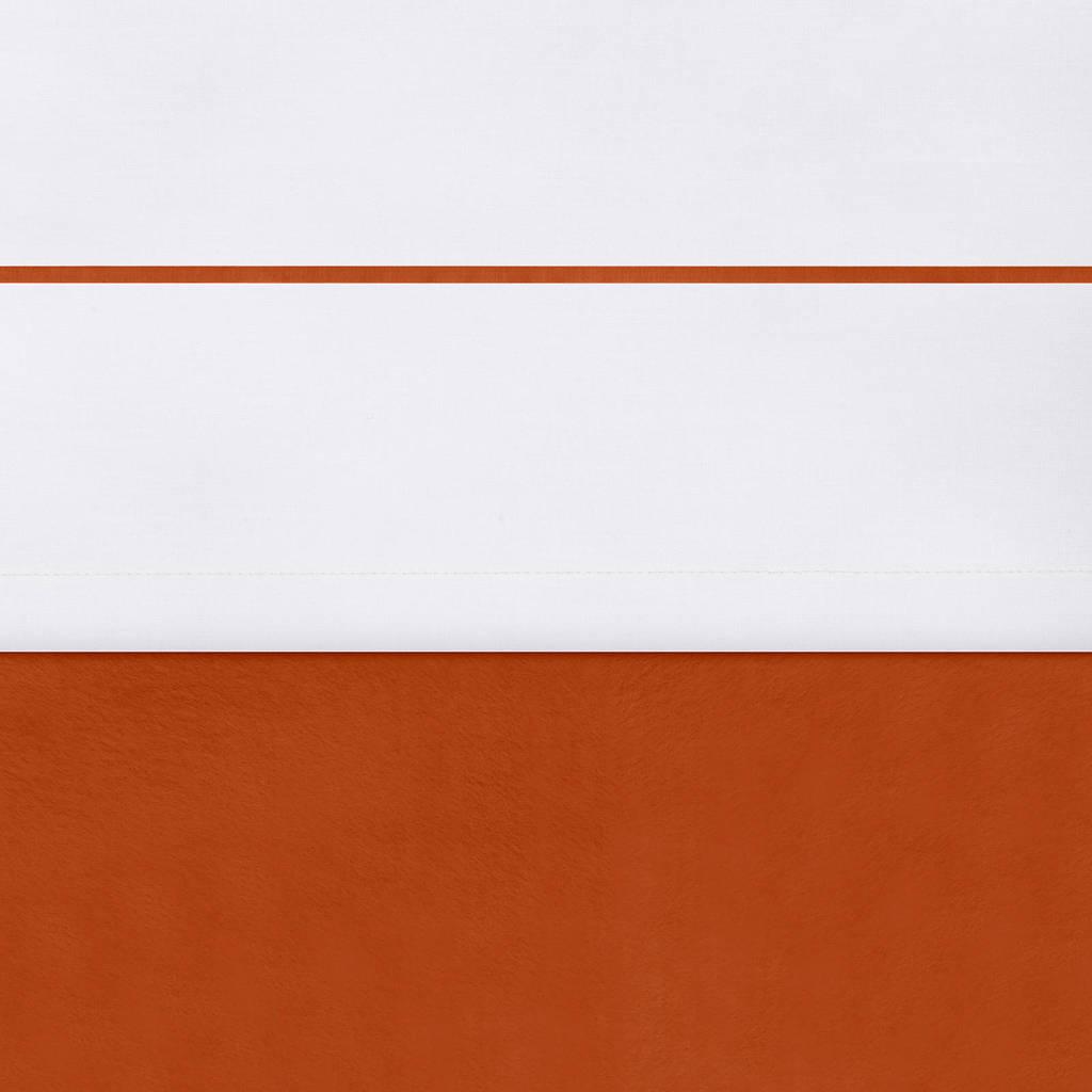Jollein baby ledikantlaken 120x150 cm velvet rust, Wit/brique