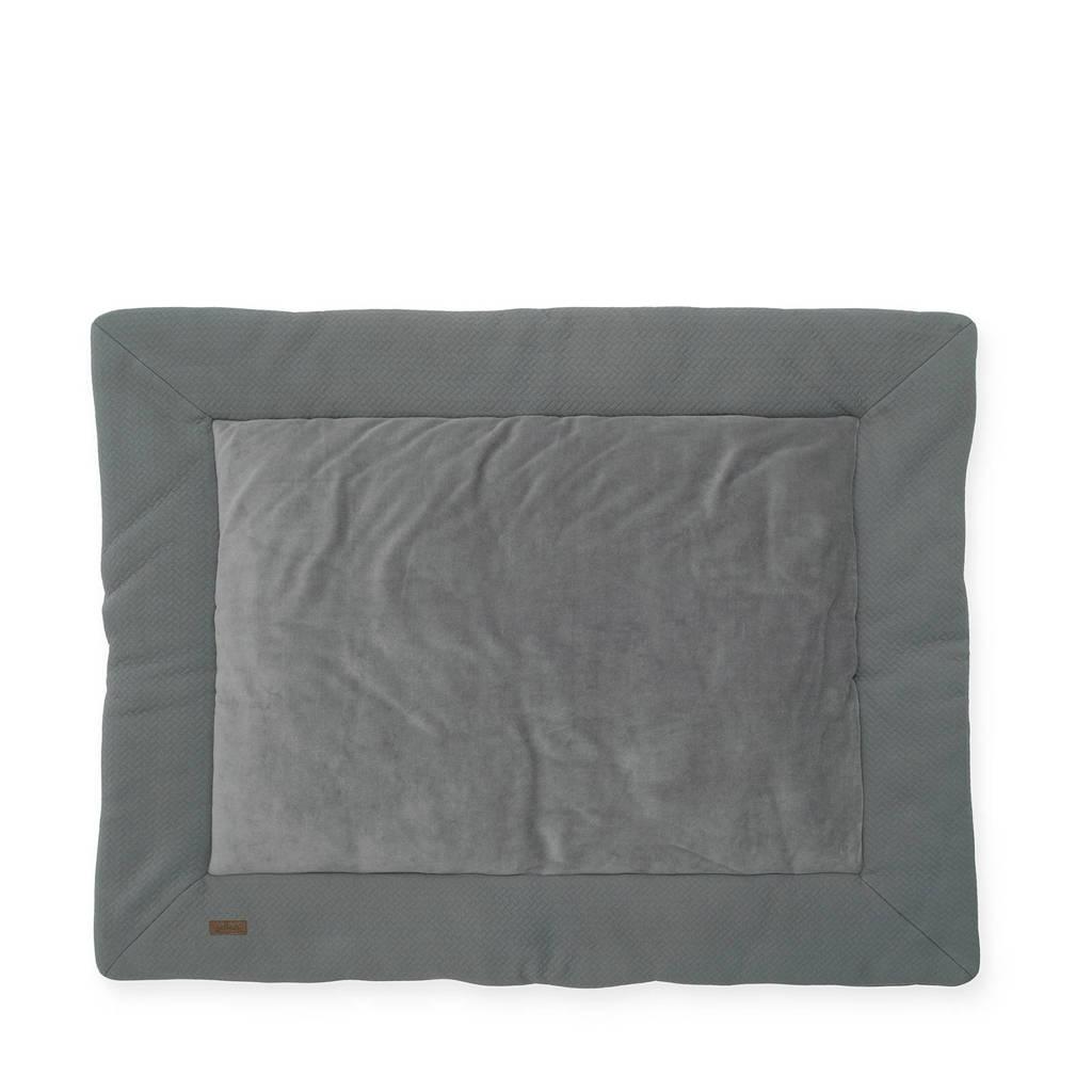 Jollein boxkleed 80x100 cm Brick velvet storm grey, Grijs