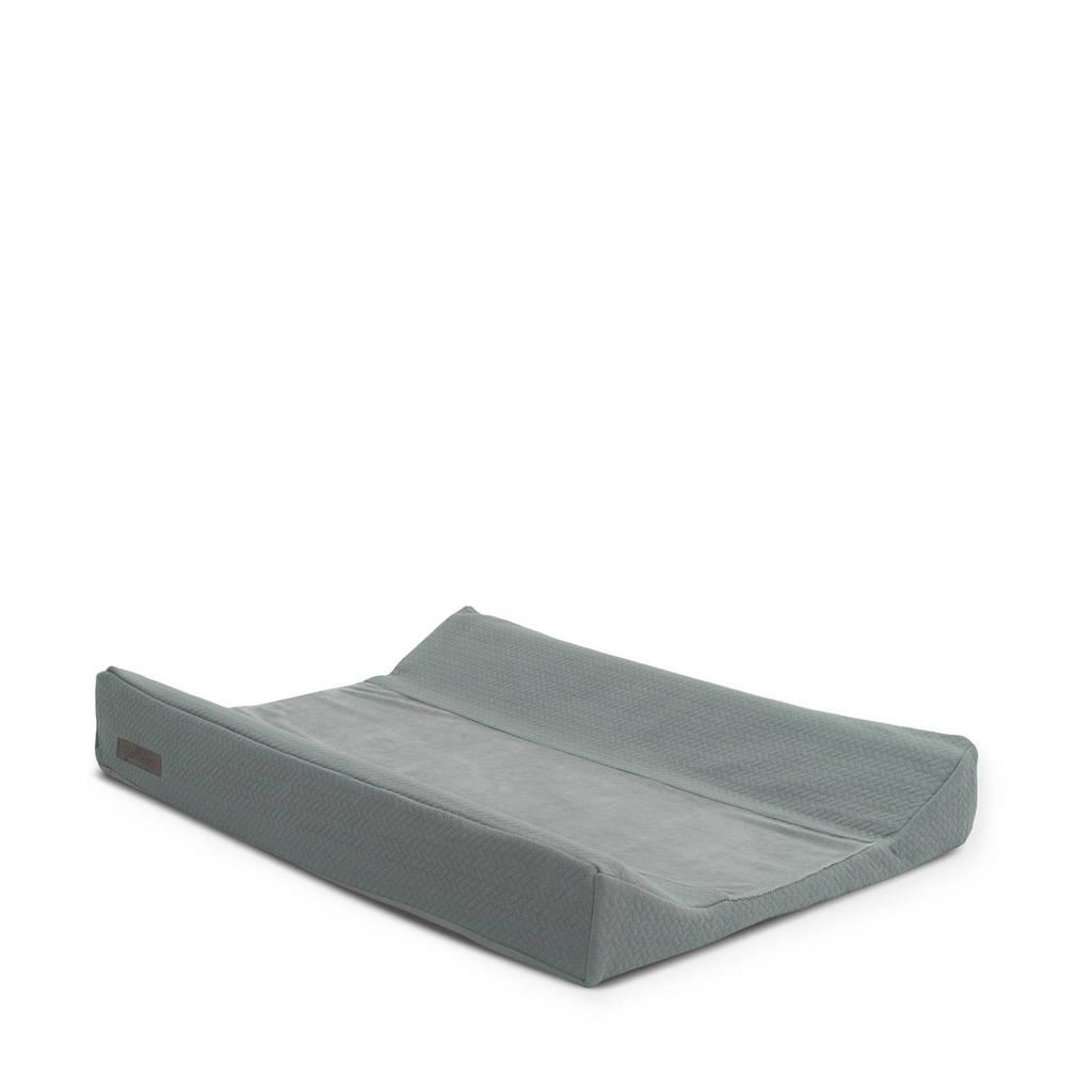 Jollein aankleedkussenhoes 50x70 cm Brick velvet storm, Grijs
