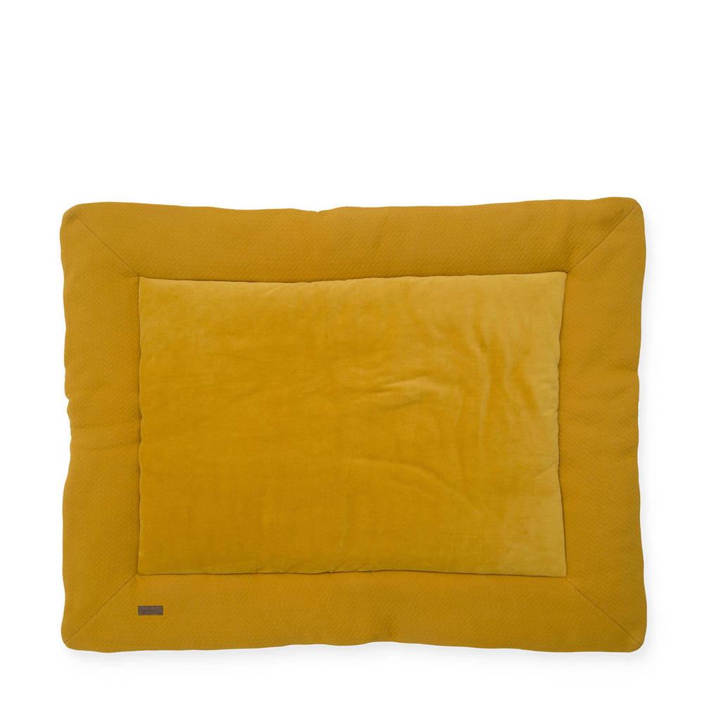 Jollein boxkleed 80x100 cm Brick velvet mustard, Okergeel