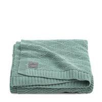 Jollein baby ledikantdeken 100x150 cm River knit ash green, Groen