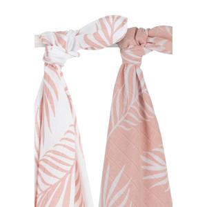 hydrofiele multidoek large 115x115 cm Nature pale pink - set van 2