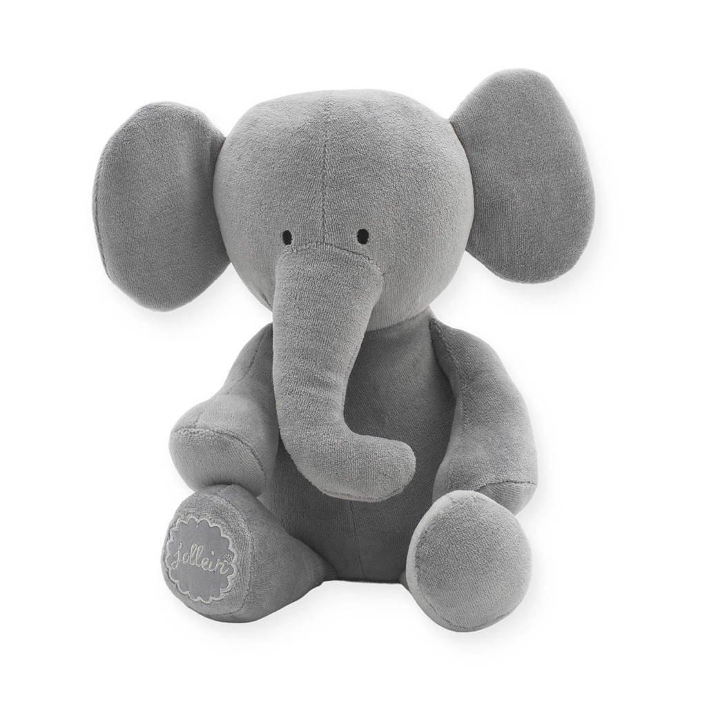 Jollein Elephant  storm grey knuffel 37 cm, Grijs