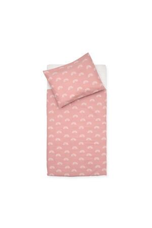 ledikant dekbedovertrek en sloop 100x140 cm Rainbow blush pink