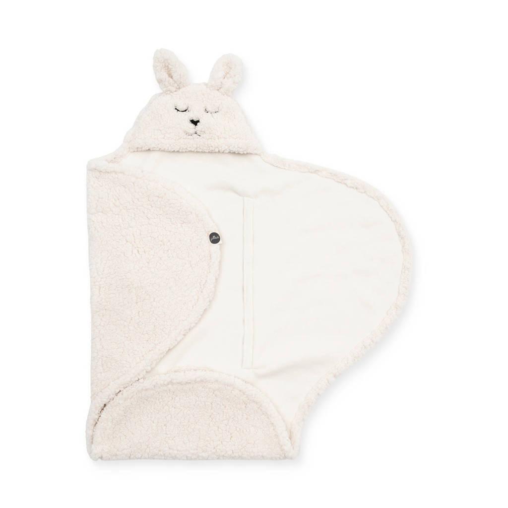 Jollein wikkeldeken Bunny off-white, Wit