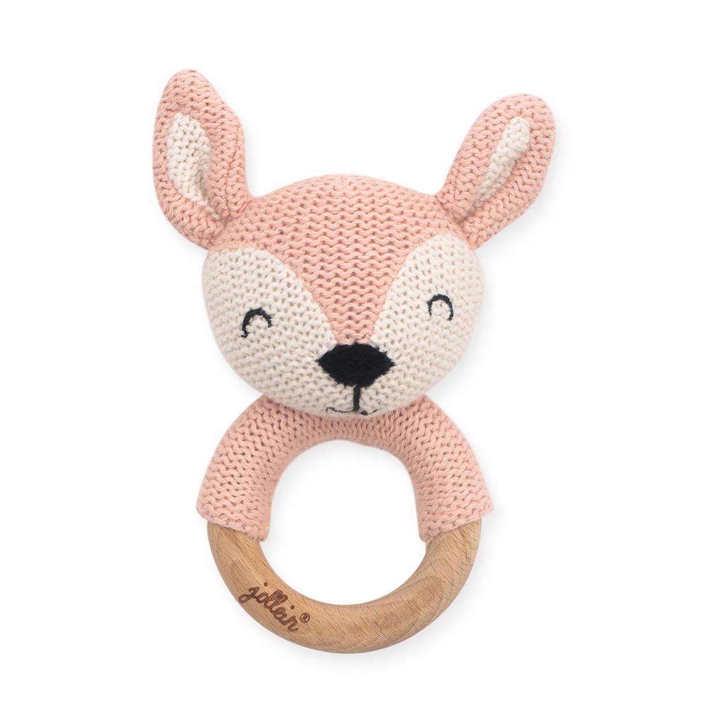 Jollein bijtring Ø 7cm Deer pale pink, Roze