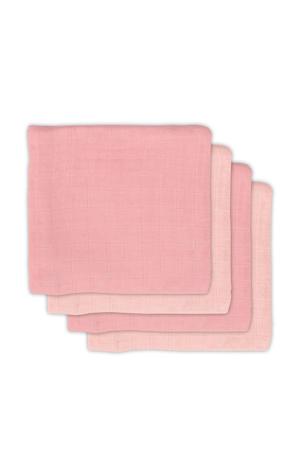 bamboe hydrofiele luiers 70x70 cm Pale pink - set van 4