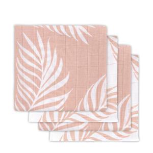 hydrofiele luier 70x70 cm Nature pale pink - set van 4