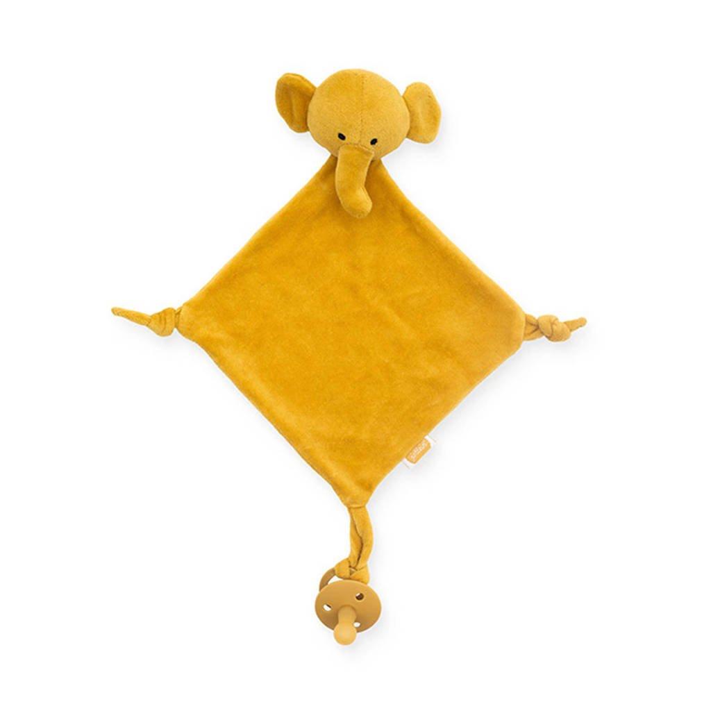 Jollein knuffeldoekje Elephant mustard knuffeldoekje, Geel