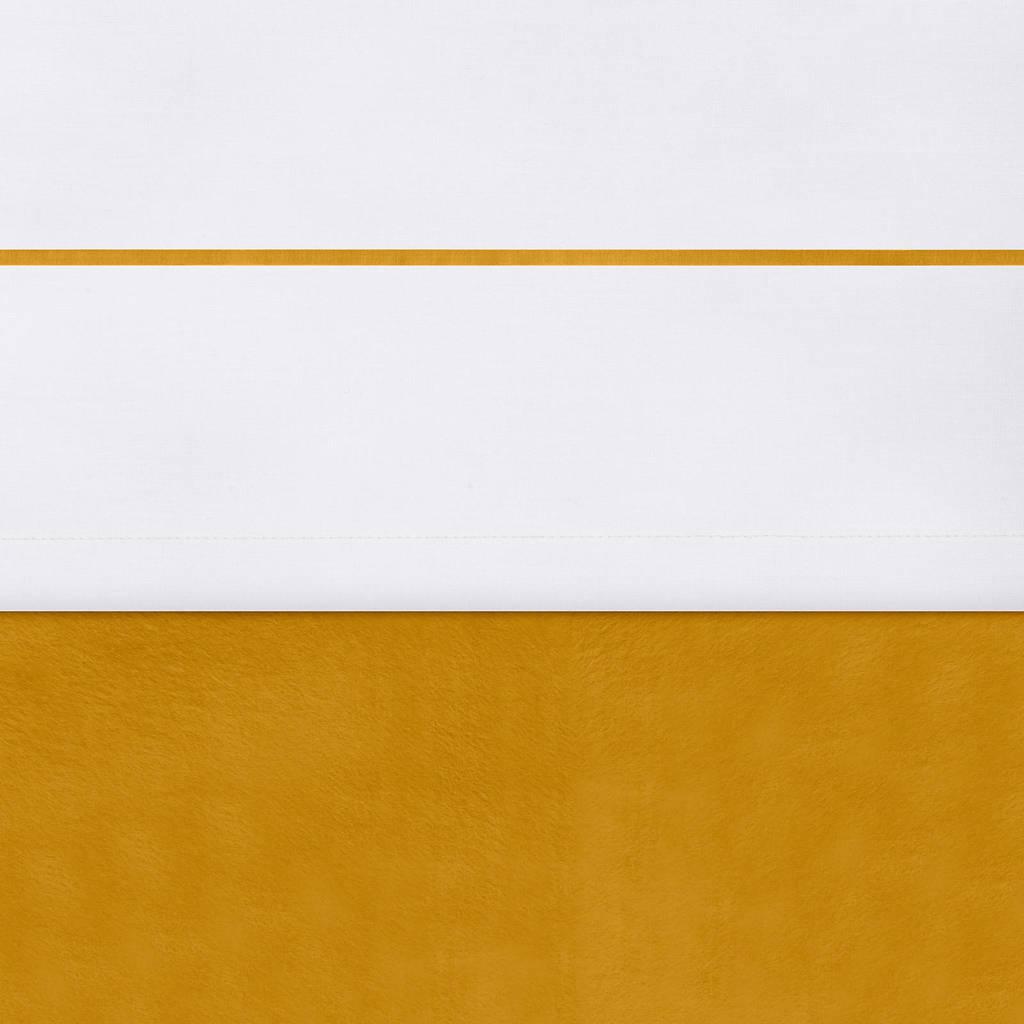 Jollein baby ledikantlaken 120x150 cm velvet mustard, Wit/oker