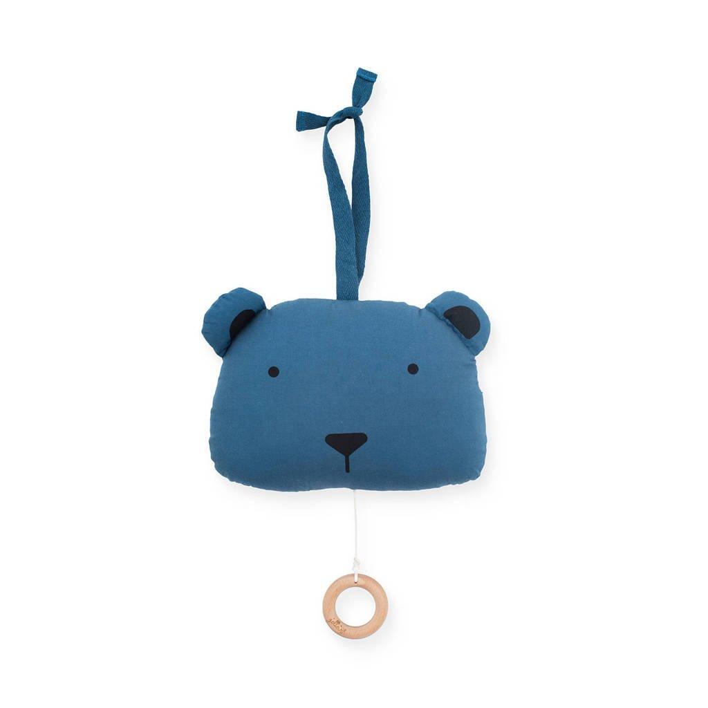 Jollein muziekhanger Animal club steel blue, Blauw
