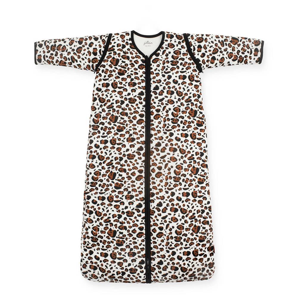 Jollein 4-seizoenen baby slaapzak 110 cm Leopard natural, Beige
