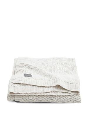 baby ledikantdeken 100x150 cm River knit cream whIite