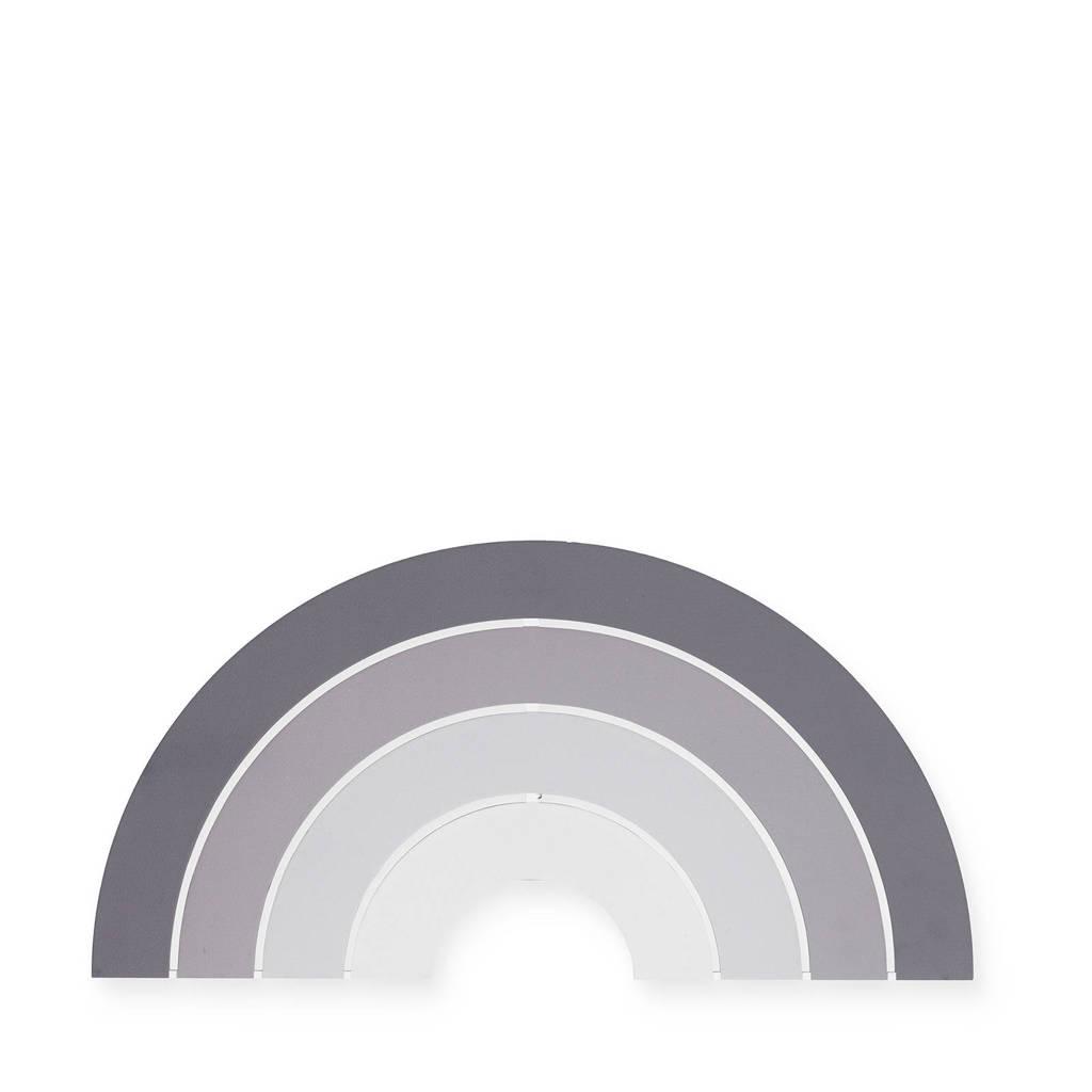 Jollein wandlamp Rainbow grey, Grijs