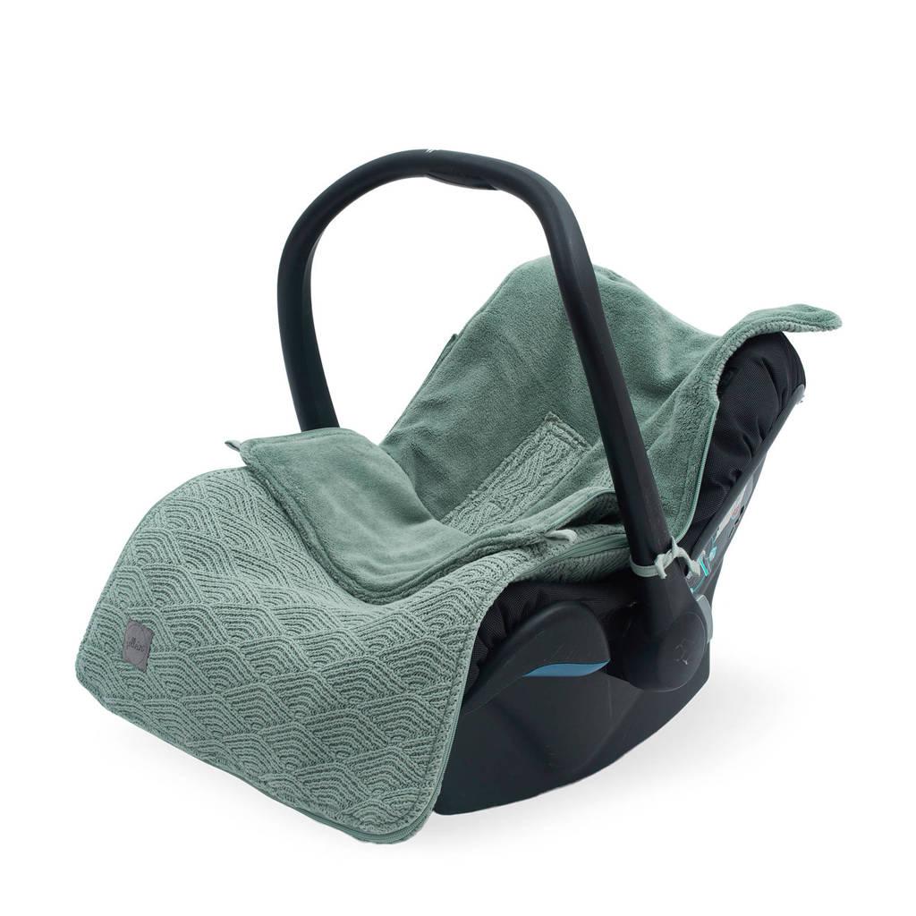 Jollein voetenzak groep 0+ 3/5 punts  River knit ash green, Groen
