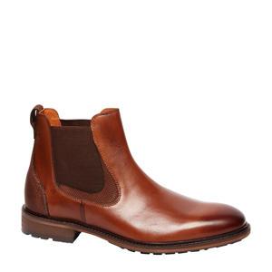 1956603 leren chelsea boots cognac