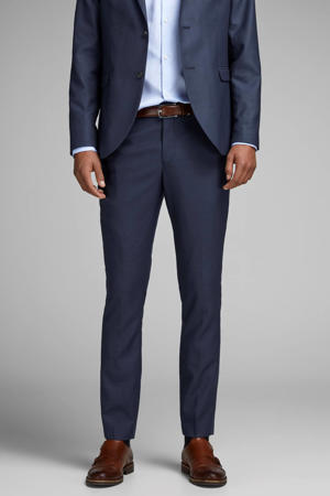 slim fit pantalon donkerblauw
