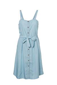NOISY MAY A-lijn jurk met ceintuur blauw, Blauw