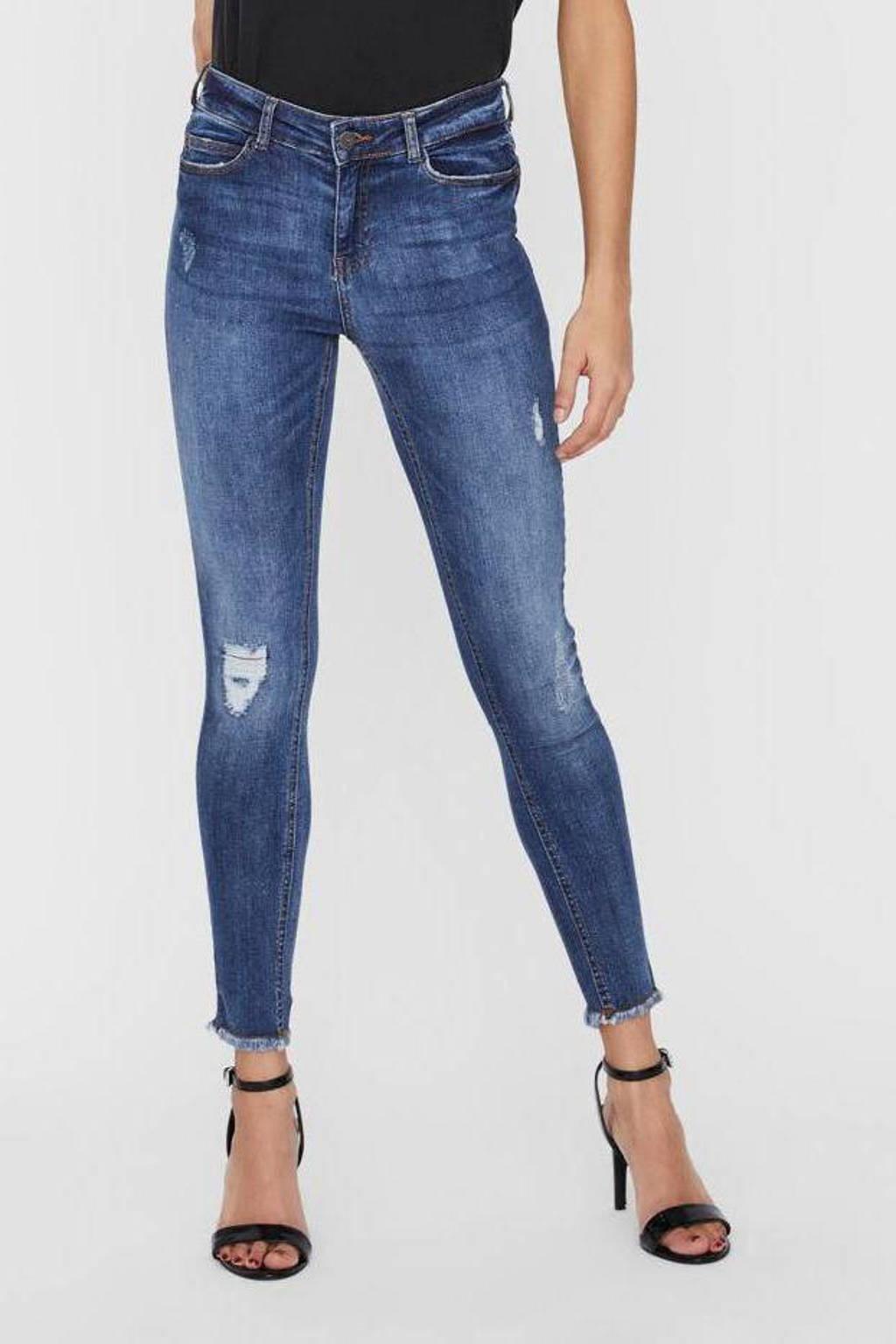 NOISY MAY skinny jeans NMLUCY light blue denim, Blauw
