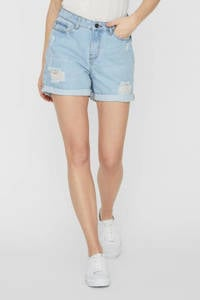 NOISY MAY jeans short NMSMILEY light blue denim, Lichtblauw
