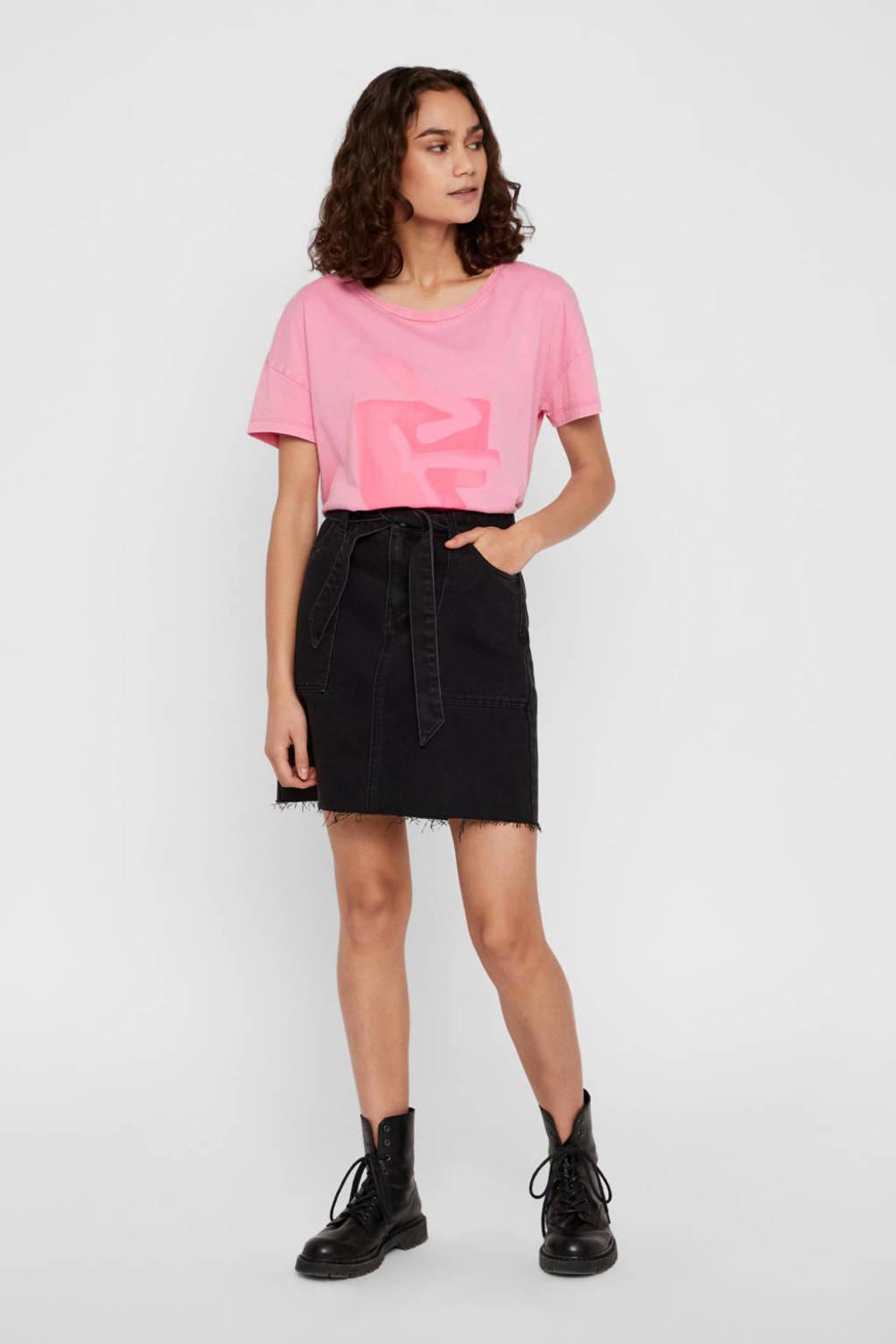 NOISY MAY A-lijn rok zwart, Zwart