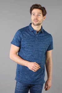 GABBIANO regular fit polo met all over print blauw, Blauw