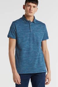 GABBIANO regular fit polo met all over print blauw, Blauw
