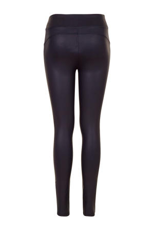 coated legging donkerblauw
