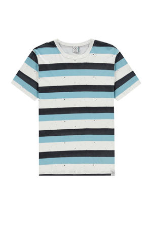 gestreept T-shirt wit