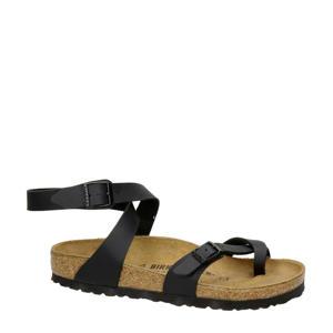 Yara  leren sandalen zwart