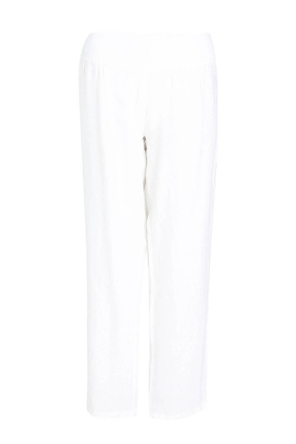 Paprika linnen loose fit broek wit, Wit