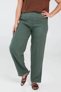 Paprika linnen loose fit broek groen, Groen