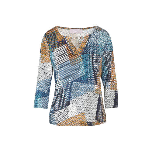 Cassis top met all over print multicolor