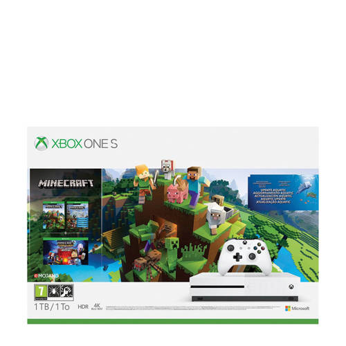 Xbox One S 1TB Minecraft Aquatic Bundle