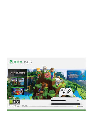 Xbox One S console 1TB bundel Minecraft + 3 games (downloads)