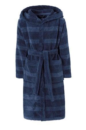 badjas donkerblauw streep