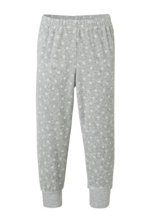 Palomino pyjamabroek en top grijs/wit