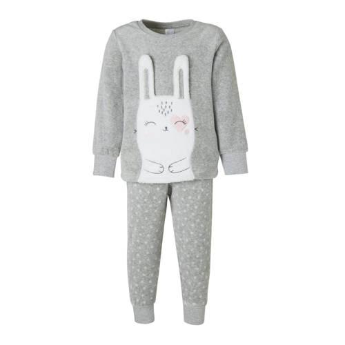 C&A Palomino pyjamabroek en top grijs-wit