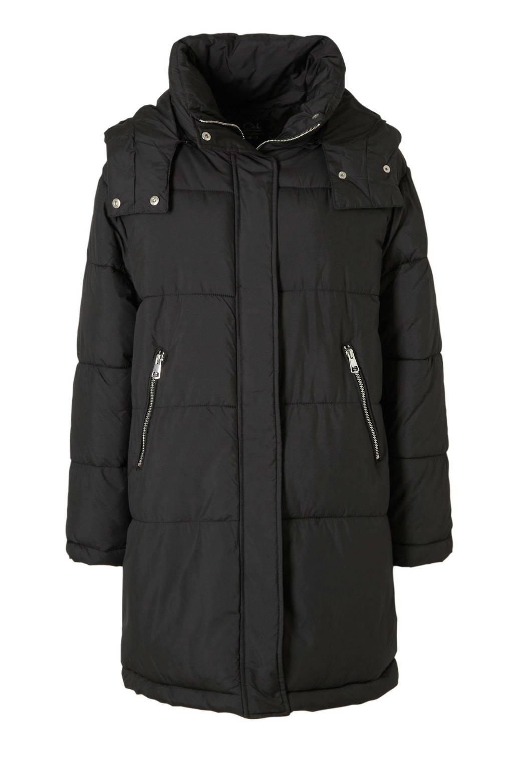 C&A Clockhouse gewatteerde jas zwart, Zwart