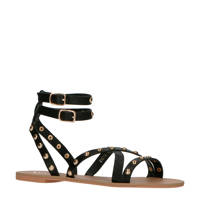 Raid Evetta  sandalen met studs zwart, Zwart/goud